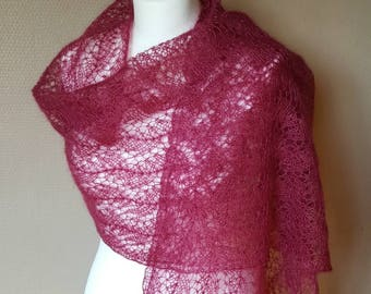 "Hand knitted shawl - mohair and silk shawl ""Irina"""