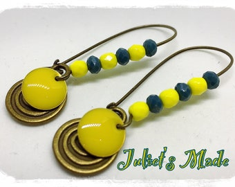 Earrings bronzes essential summer yellow