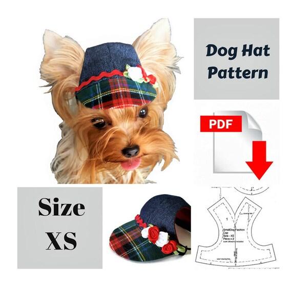 Small Dog Hat Pattern For Dog Pet Hat Pdf Dog Hat Sewing Pdf