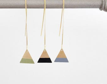 Geometric Earrings: little triangle