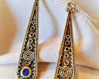 Earrings long Nepal Tibet Himalayas etniques