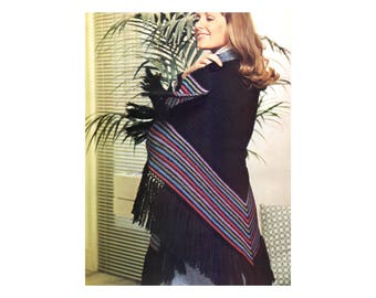 Rainbow Shawl Crochet Pattern