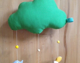 "Mobile ""of fish in a cloud"" green"