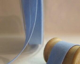 Blue cotton bias folded 20 mm 10 mm