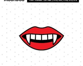 Vampire Lips Svg, Lips Svg, Vampire tooth Svg, Red Lips Svg, Svg For Silhouette, Svg For Cricut, Vinyl Decal, Svg Lip, Vampire Clipart Files
