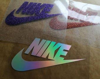 nike iron on logos, nike iron on patches, nike shirt applique, nike diy patches, glitter nike heat transfer decal, tshirt appliques