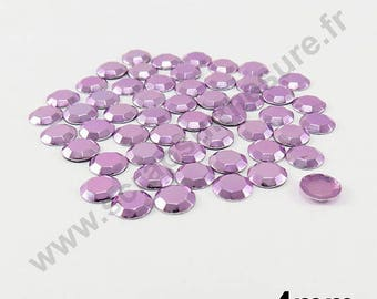Thermo - purple clear - dome 4mm - x 100