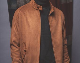 Tan Stretford Sudette Harrington Jacket