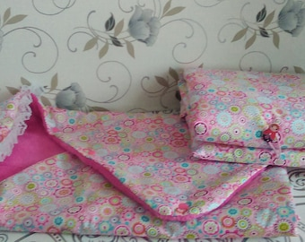 Birthday gift, whole nest of Angel/blanket for swaddling, changing mat baby pink and white Keychain Nomad