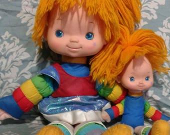 Rainbow Brite doll set of 2! Rainbowbrite, 80s doll.