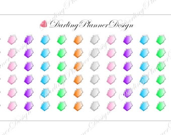 72 Crystal Alchemist Planner or Journal Stickers - Date Covers and Decor