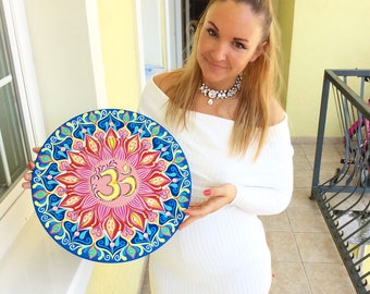 Ohm Mandala painting