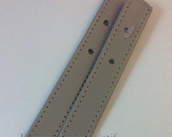 X 2 eco Dove - 58 cm x 2 cm leather bag handles