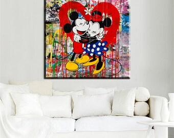 "Mr Brainwash ""Mickey mouse hug"""