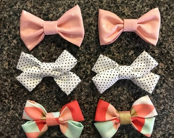 Mini bows with clips