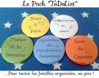 "The Pack ""ToDoList"": Set of 5 magnets"