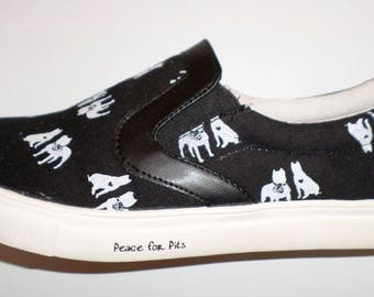 American Pit Bull Terrier Slip on Tennis Shoes.