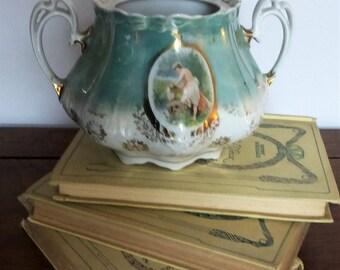 Porcelaine d'Autriche, ancien Sucrier de la fin du XIXème / Old Austrian Sugar bowl from the end of the 1800's