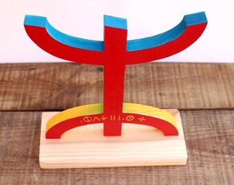 Cross Kabyle Berber flag wooden