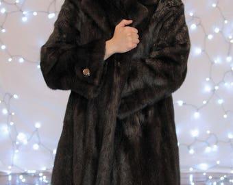 Female Ranch Mink Coat, 1980's Mink Coat, Ranch Mink Coat
