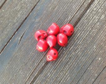 Synthetic Howlite skull beads
