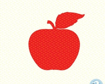 Apple SVG, DXF, PNG, Eps | Silhouette Cameo or Cricut, vector, clipart | Back to School Svg | Red Apple Svg | Apple clipart
