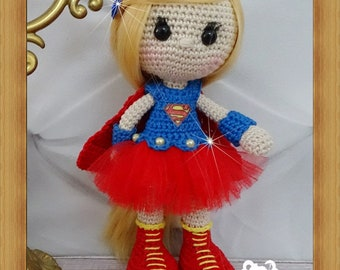 Doll, crochet, Amigurumi, Supergirl
