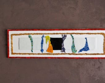 """""""Walk"""" in enamels and mosaic table"""
