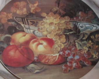 Fruit Still Life Plate Email De Limoges 11 Inches Godinger 1855