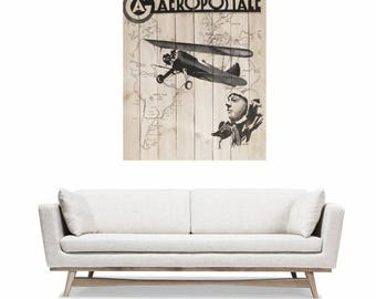Table wooden abstract palette - Size XXL - aviation