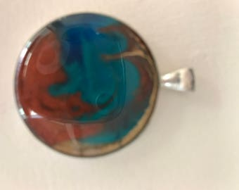 Resin Art Pendant Necklace