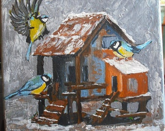 """Painting """"Shelter for the winter"""""""