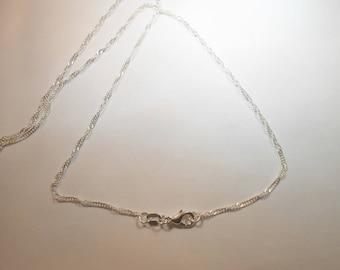 925 sterling silver chain double twist, 46 cm. (SILVERTORSION46)