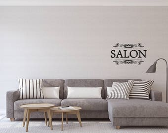 Salon - vinyl on decal paper so you can decorate whatever you like – Wall decor