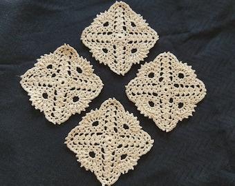 Crocheted Lace Coaster Set