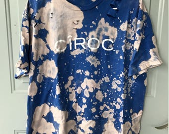 Bleached and Ripped Distressed Ciroc Shirt