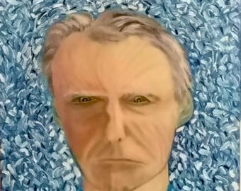 """Clint Eastwood  as a young """"Dirty Harry"""",  Oil on Canvas"""