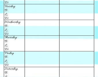 Weekly Meal Planner - Letter Size