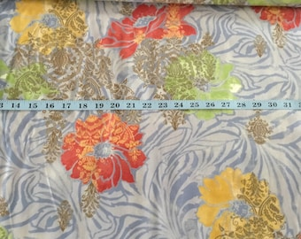 quilt fabric 100 percent cotton floral blue yellow orange green moda