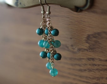 Teal Blue Dangles