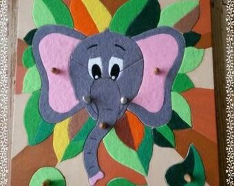 Elephant soft wooden portrait puzzle