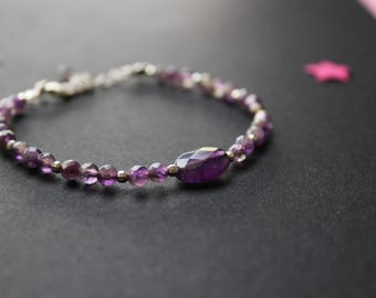 Bracelet round amethyst and Silver 925/000