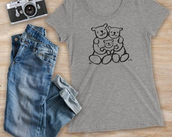 BEAR HUG FAMILY, mama bear shirt, family t-shirt, mama shirt, girlfriend gift, mom shirt, new parent gift, baby shower gift, bear t-shirt