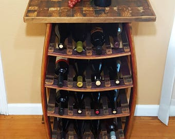 Wine Barrel Stave 16 Bottle Wine Rack Rustic Furniture