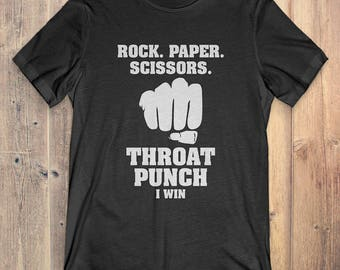 Rock Paper Scissors Throat Punch T-Shirt Gift