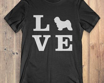 Tibetan Terrier Dog T-Shirt Gift: I Love Tibetan Terrier