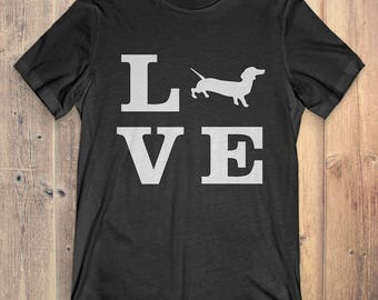 Dachshund Dog T-Shirt Gift: I Love Dachshund