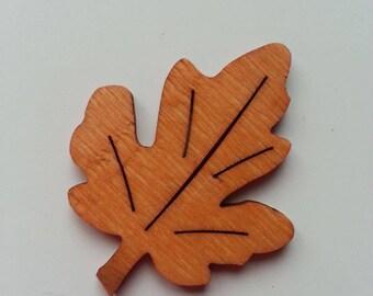 feuille  en bois orange  40*50mm