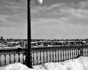 "Photography black and white: ""Cold on the St - Laurent"" - Quebec, CANADA - 2017"