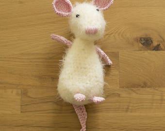 3+ Hand Crochet Acrylic Body & Cotton Details Mouse